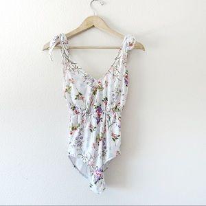 Kortni Jeane White Floral One Piece Swimsuit